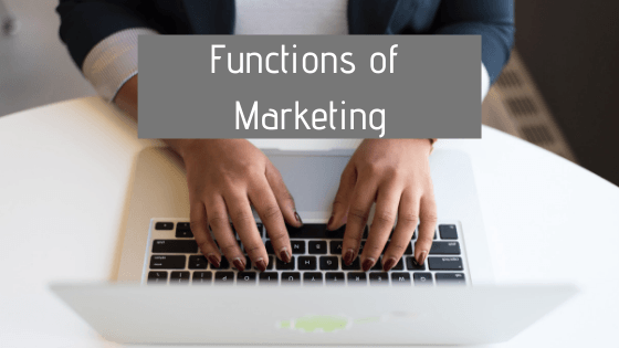 Functions of Marketing in free digital marketing course