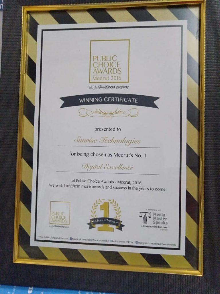 Best Digital Marketing Winning Award Institute In Meerut