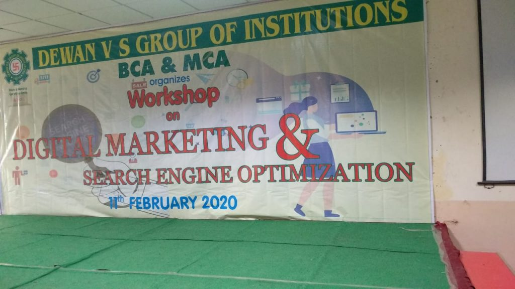 attend Workshop in Dewan Institute Meerut as a digital marketing trainer